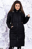 Пальто пуховик женский зимний теплый удлиненный 42-46 размеров