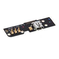 Плата нижняя (плата зарядки) Meizu MX2 с разъемом зарядки и компонентами