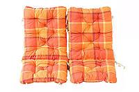 Набор из 2 подушек с подкладкой для складного стула, оранжевого квадрата 90 х 40 х 8 см,
