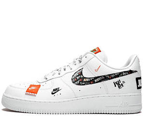 """Кроссовки Nike Air Force 1 07 Just Do It Pack """"White"""" Арт. 3805"""