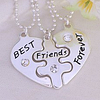 """Кулоны для троих друзей """"Best friends forever"""""""