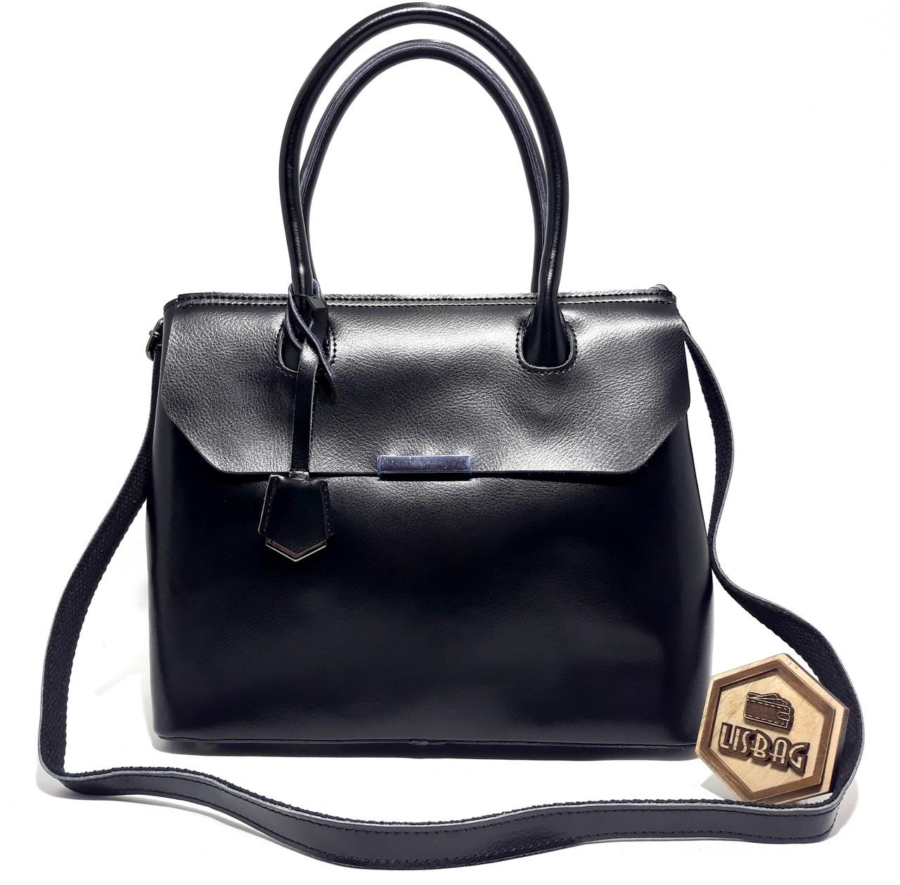 479d3f2827df Большая вместительная женская сумка из натуральной плотной кожи, Черная  Galanty , цена 1 147 грн., купить в Умани — Prom.ua (ID#856589931)