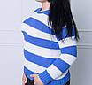 Женский свитер в полоску, большие размеры, фото 6