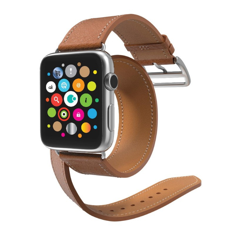 COTEetCI W9 Apple Watch LEATHER 42MM Brown