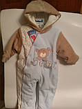 Велюровий комбінезон бавовняний для малюка, фото 4