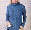 Женский свитер вязанный коса, фото 9
