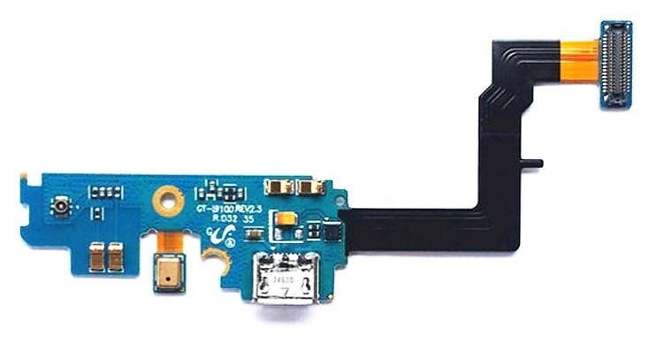 Плата нижняя (плата зарядки) Samsung i9100 с разъемом зарядки и компонентами (rev 2.3)