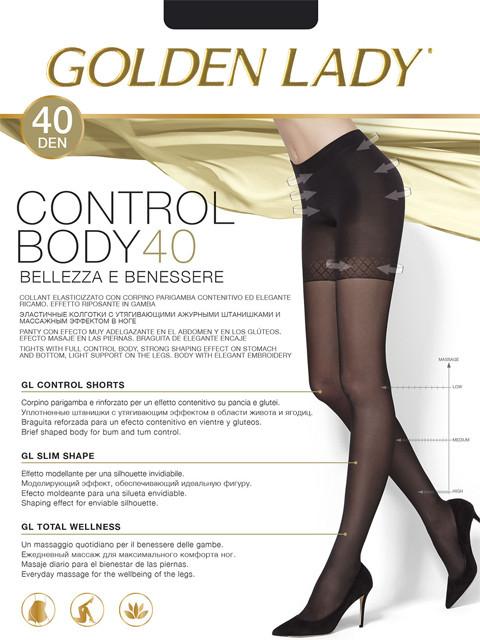 Колготки с утягивающими шортиками Golden Lady Control Body 40 den