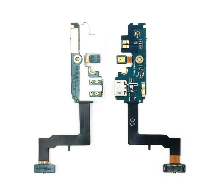 Плата нижняя (плата зарядки) Samsung i9105 Galaxy S2 Plus с разъемом зарядки и компонентами