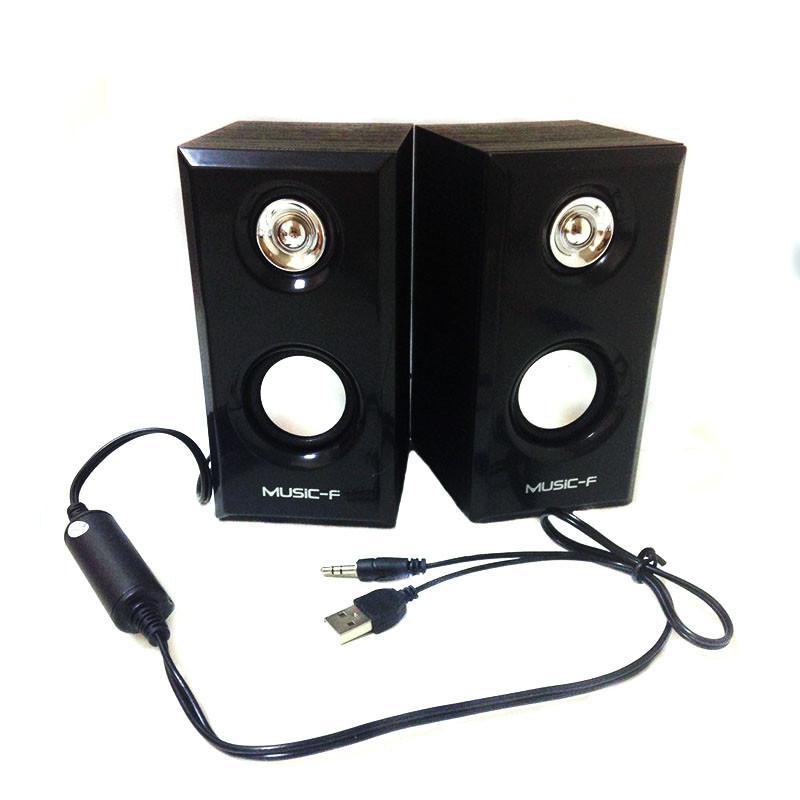 USB колонки для ПК комп'ютерні колонки D092, Чорні