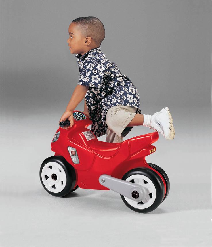 Детский велосипед-мотоцикл, красный, 40х60х28 см, фото 2