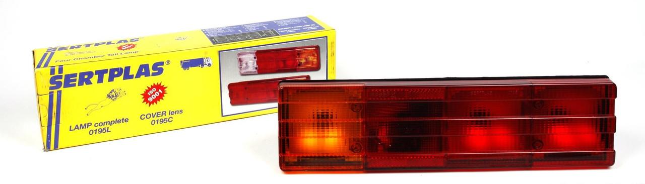 Фонарь задний MB 609-814D (красный) (0195R) SERTPLAS