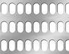 Тип 2а1(Lg), прямокутні отвори з округленими торцями, розташовані рядами