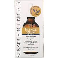 Сыворотка для лица от морщин, серум, с ретинолом, алоэ вера и зеленым чаем (52мл) Advanced Clinicals