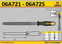 Напильник по металлу плоский, 200 мм,  TOPEX  06A721