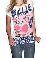 Озорная футболка с принтом Bershka