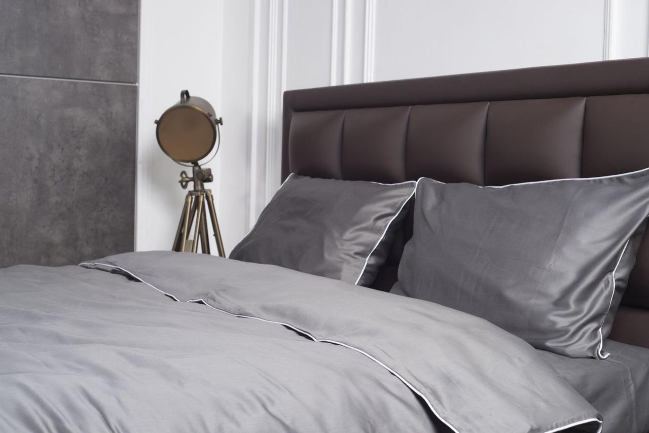 Комплект постельного белья из сатина, с кантом Ночная дымка