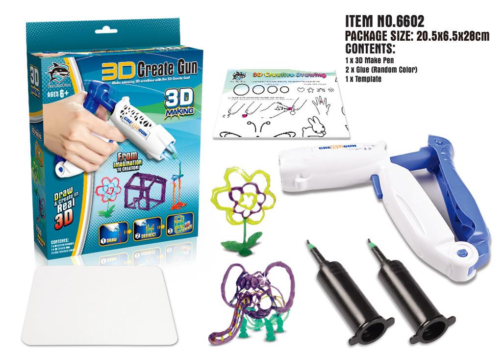 3D ручка 6602 (48шт/2) з набором батар. в кор. 28*6,5*20,5 см