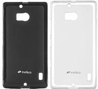 Чехол для Nokia Lumia 535 - Melkco Poly Jacket TPU (пленка в комплекте)