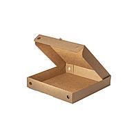 Коробки для пиццы квадратные, 250*250*45 крафт-целлюлоза