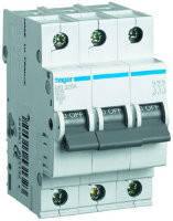 Автоматичний вимикач 3р, С,6 A, 6 кА,  Хагер