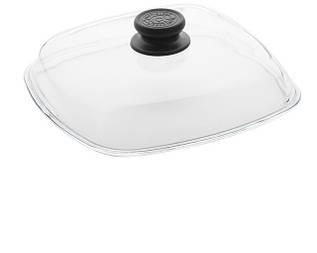 Кришка скляна квадратна (для сковороди гриль)