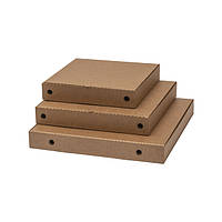Квадратные коробки для пиццы крафт-целлюлоза