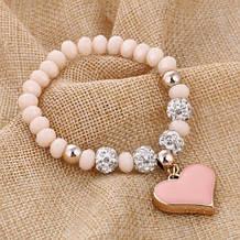 Женский браслет с сердечком