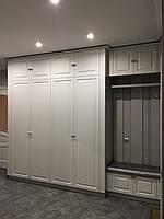 Шкаф в коридор белый матовый фасад с фрезеровкой, фото 1
