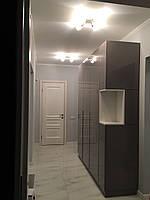 Шкаф глянцевый капучино в коридор, шкаф мдф краска глянец, фурнитура блюм (blum), фото 1