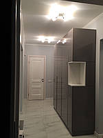 Шкаф глянцевый капучино в коридор, шкаф мдф краска глянец, фурнитура блюм (blum)