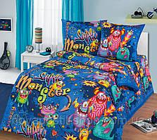 Монстры, подростковое постельное белье (бязь, 100% хлопок)