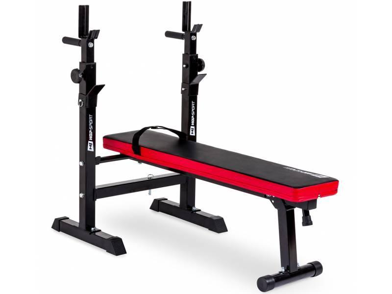 Набор Hop-Sport Strong штанга и гантели 129 кг со скамьей HS-1080