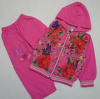 Костюм для девочек, примерно  3-6  лет с цветочным принтом