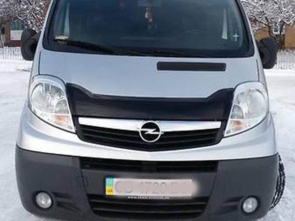 Дефлектор капоту (мухобійка) Opel Vivaro з 2001 р. в. (коротка)