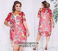 ba33ddbf887 Платье больших размеров от 48 до 52 комплект 2-ка - платье майка и шифоновая