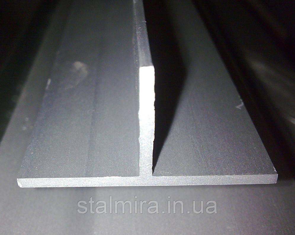 Тавр алюминиевый, основание 60, высота 60, толщина стенки 2/3, марка алюминия АД31, Д16Т, АМг3, 1915