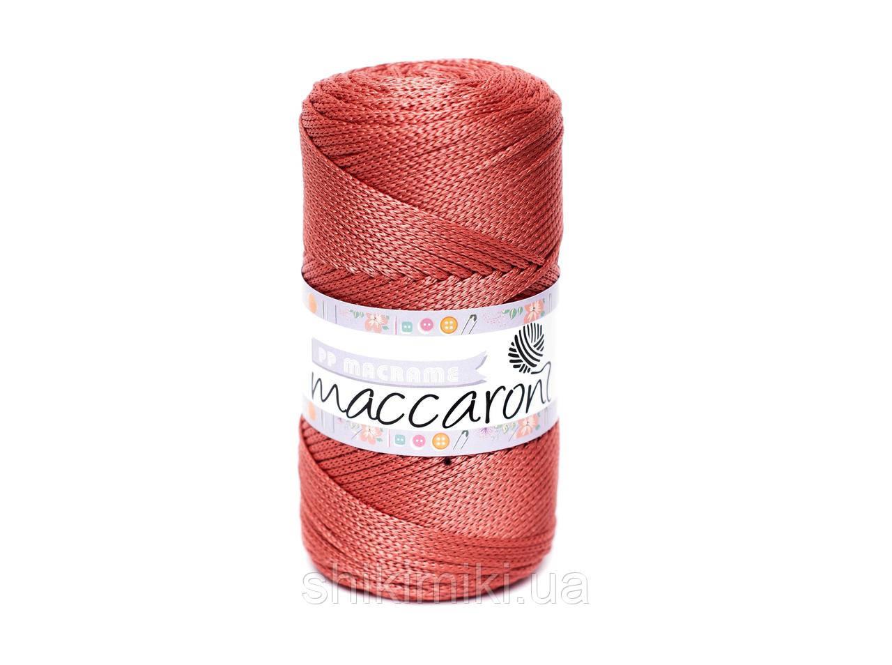 Трикотажный полипропиленовый шнур PP Macrame, цвет Терракотовый