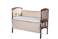 """Защита в детскую кроватку Qvatro LUX  """"Счастливые животные"""""""