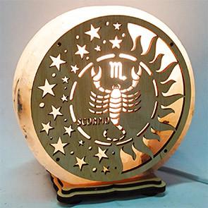 """Соляний світильник """"Скорпіон"""""""