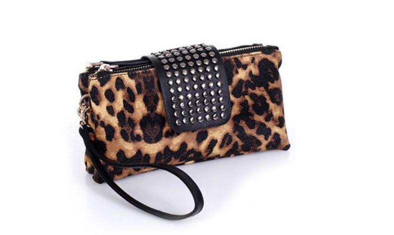 Женский клатч сумка Леопард
