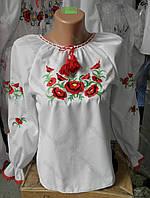 """Вышиванка  для  девочки  """" Маки 2 """" 0557  ( Г.А.Л.)"""