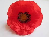 Мак красный для украинского венка (головка цветка), диаметр 9,5 см, фото 1