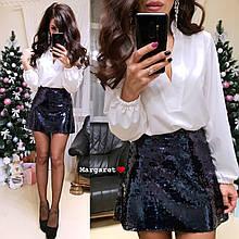 Стильная Блуза Женская с длинным свободным рукавом 42-44 софт