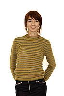 Свитер женский DIESEL цвет зелено-желтый размер S арт 00SMWT 0IAKY