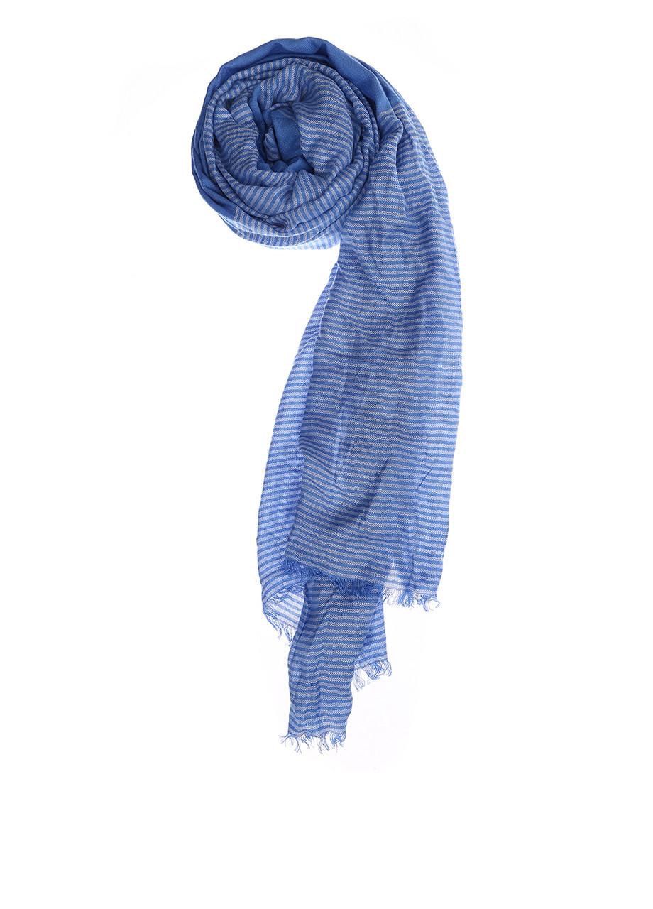 Шарф женский TOM TAILOR цвет бело-голубой размер OS арт 0221498.00.71