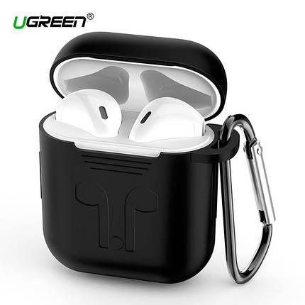 Силиконовый чехол для наушников AirPods Ugreen Earphone Case for Apple AirPods 50867 (Черный), фото 2