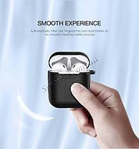 Силиконовый чехол для наушников AirPods Ugreen Earphone Case for Apple AirPods 50867 (Черный), фото 3