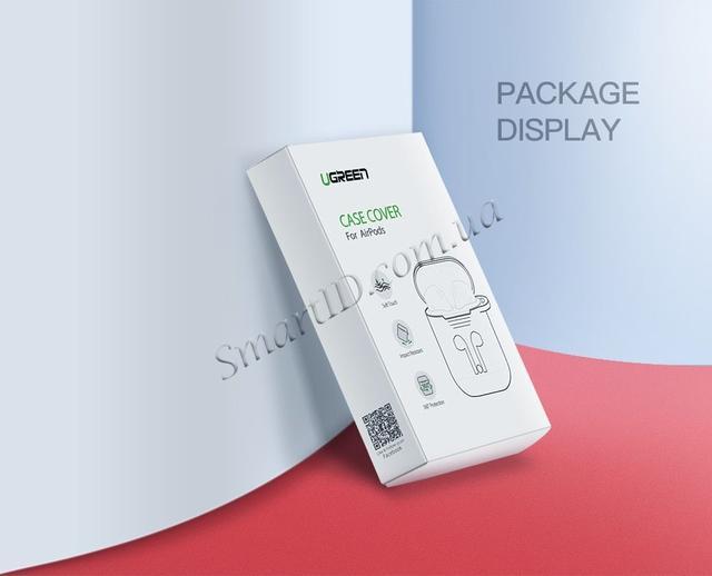 Силиконовый чехол для наушников AirPods Ugreen Earphone Case for Apple AirPods LP170 50867 (Черный)