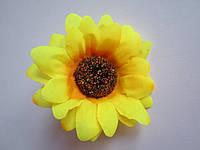 Подсолнух для украинского венка (головка цветка), диаметр 6,5 см, фото 1